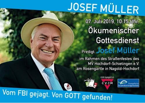 Anzeige Josef Müller